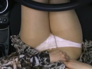 Asian Car Slut Gets Fucked and Creampied in a Convertible Ride
