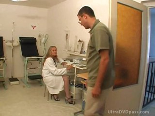 Busty Blonde Nurse Gets Anal Drilled and Facialized By a Patient