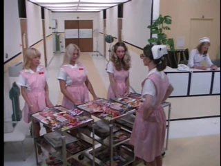 Perverted Retro Nurse Cris Cassidy Gets Facialized Twice