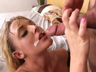Furious Tristyn Kennedy is doused with dick milk