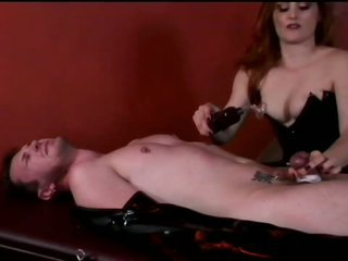 Mistress Jemini Terrorizes Bound Up Dude