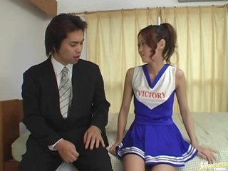 Asian Race Queen Kaoru Mugi Plays with Sex Toys and Sucks Cock