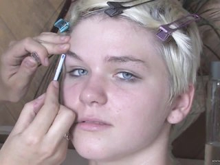 Beautiful Blonde Teen Claudia Downs Gets Ass Drilled and Facialized
