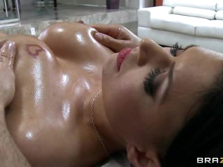 Sizzling Eva Angelina receives her massive tits massaged