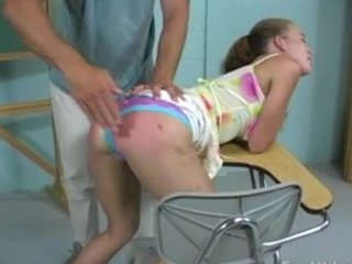 This girl really enjoys getting spanked