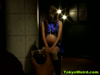 Asian pregnant woman bondage