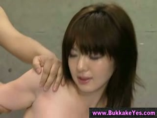 Bukkake asian whore drilled