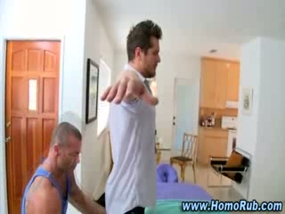 Gay str8 oil massage