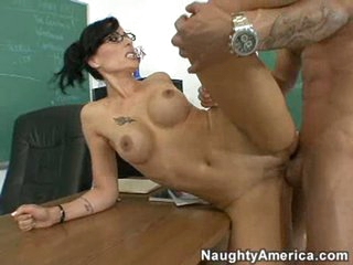 Super hot teacher Zoe Holloway getting plowed in the cunt by young dick