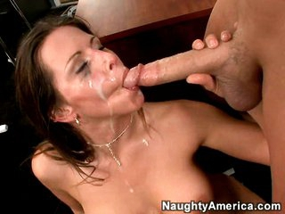 Slutty Rachel Roxx gets rocked by a dirty load of spunk juice