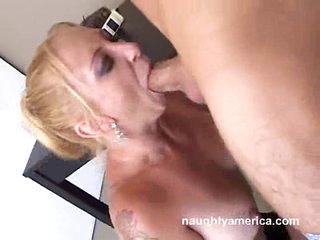 A huge throbbing dick gets slammed down Lexi Bardot's throat
