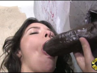 Danica Dillan take black cock from gap into her mouth