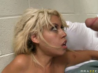 Big titty Bridgette B welcomes sex cream cum shot from hardcore big dick on her face