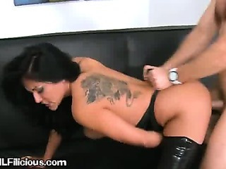 A Sexy Brunette Woman Gets A Cock From Behind