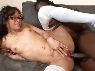 Jayla Star takes a massive dick deep in her moist pussy
