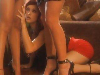 Karlie Montana,Kina Kai and and pal get hot in heels