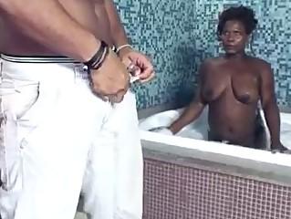 Hardcore black threesome bisexual fuck