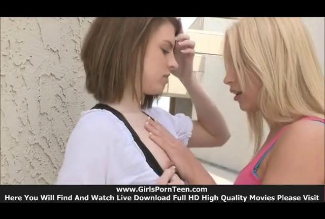Nikkie and Aubrey teen boobs sexy amateur