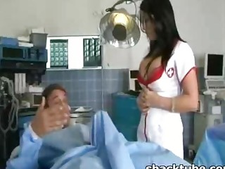 Busty nurse fucked hard by her patient