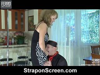 Alina&Elliot kinky strapon video