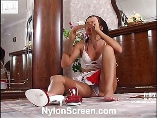 Deborah&Adam nasty nylon video