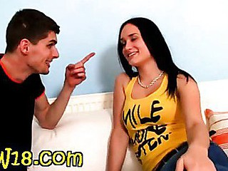 Brunette bombshell gets drilled hard by hot bigdick man
