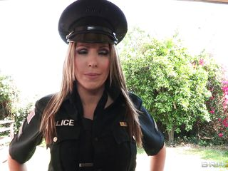 naughty police slut gets tied up