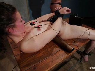 lesbian threesome fun with electricity