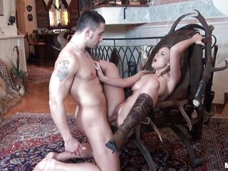 hot blonde perfect body deep penetrated in the ass