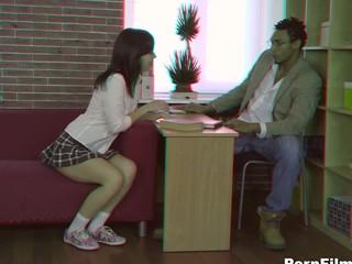 Teacher bonks a student