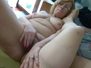 Chubby old Granma and fun