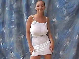 Christina college girl model with huge tits