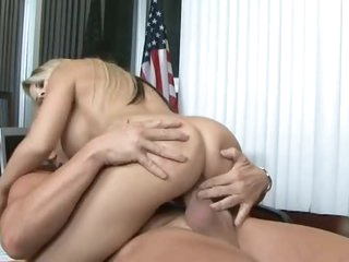 Total office bimbo gets plowed hard