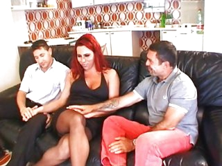 Red hair shemale gets a pounding