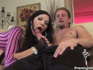 Horny rebecca gets all her holes fuck on