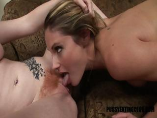 Samantha Ryan licks hot redhead fur pie