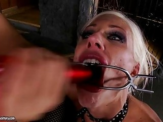 Two turned on blonde lesbians take turns in domination role