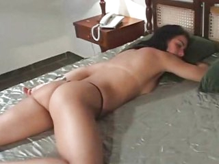 Black haired Latin hotty gets both holes drilled