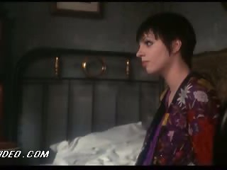 Sexy Vintage Celeb Liza Minnelli Laying On a Bed In a Hot Negligee