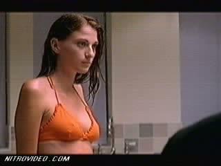 Breathtaking Brunette Katie Ferguson Walking Around In a Moist Bikini