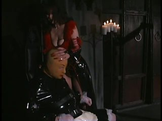 Bitch goddess Aradia Wraps Up Her Sex Slave and Then Tortures His Balls
