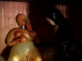 Bound Lesbian Sex Slaves In Constricted Latex Suits Compilation Video