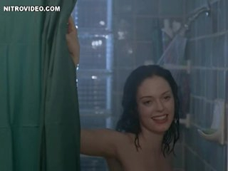 Brunette Rose McGowan Invites a Chap To Shower with Her
