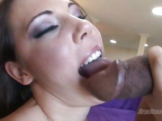 Horny porn sensation Mia likes the feel of hot jizz all over her slutty face