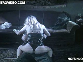 Fleshly Joanna Cassidy Getting Banged On The Floor In Black Underware