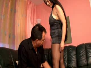 Pantyhose lady works that shlong all the way