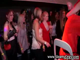 Hot amateur party with santa claus stripper