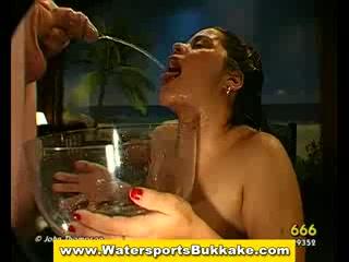 Watersports bukkake golden shower