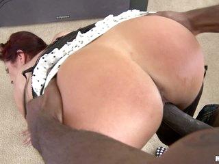 Redhead milf Tiffany Mynx takes huge black dick