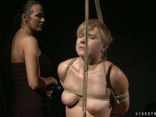 Mandy Bright horny slut tied a hot hottie with rope